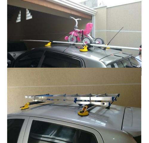 rack de teto universal + 4 ventosa surf com 2 extensores ela