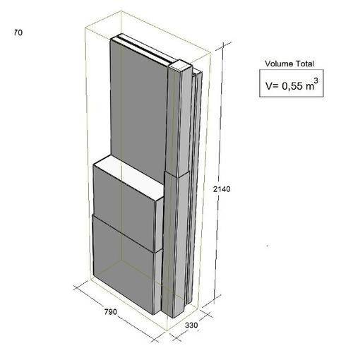 rack desmontável piso da fibrasnet 19 x 20u x 600 x 670mm