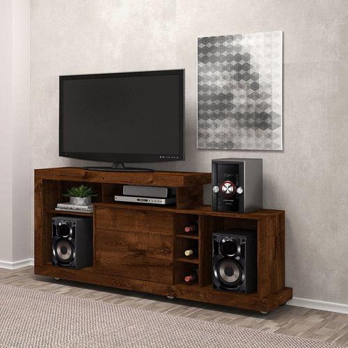 rack dj móveis porto para tv até 47'' 1 porta deslizante
