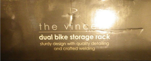 rack doble para almacenaje de bicis - importado