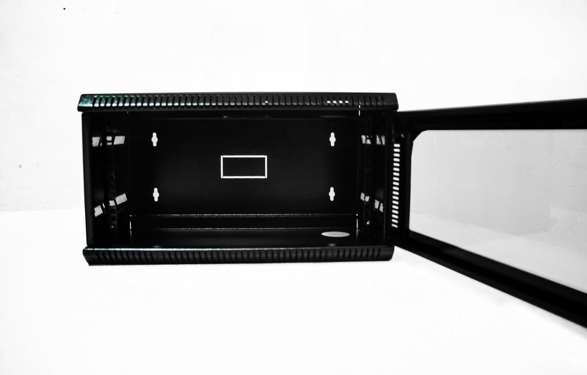 Rack gabinete 5ru pared ideal para dvr switch router for Gabinete de pared 10 ru
