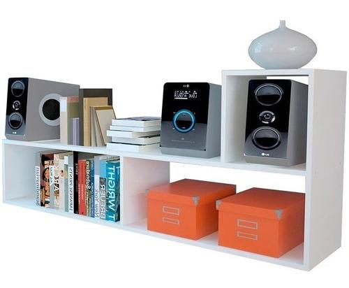rack l multiuso tv modular mueble mesa led reforzado smart