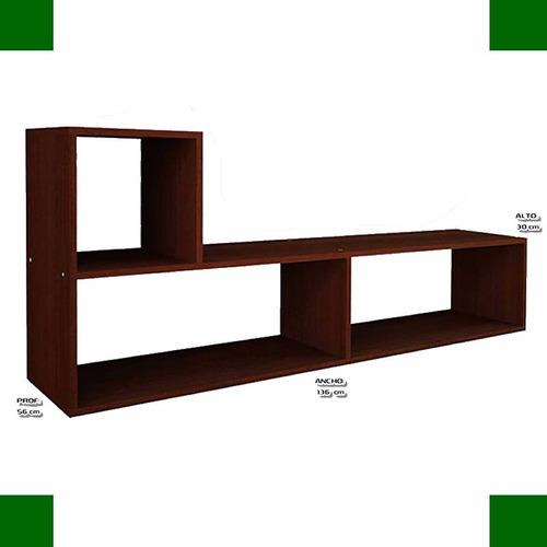 rack l multiuso tv mosconi modular mueble mesa reforzado