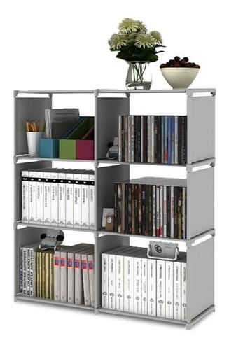 rack librero armable de tela -vincenzi - r5710