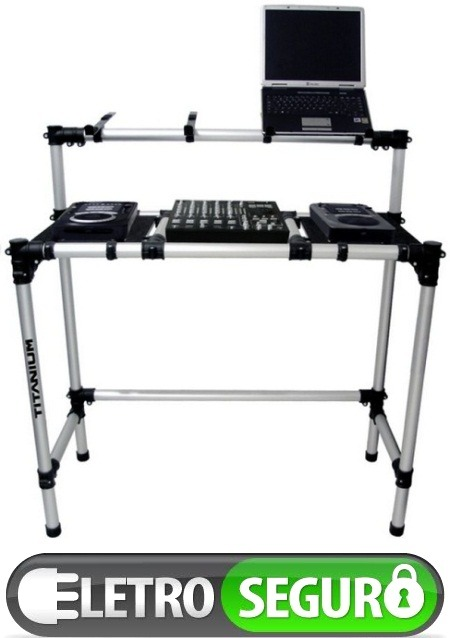 Rack mesa dj tubular para kits pioneer cdj350 djm350 r 899 00 em mercado livre - Mesa dj pioneer ...