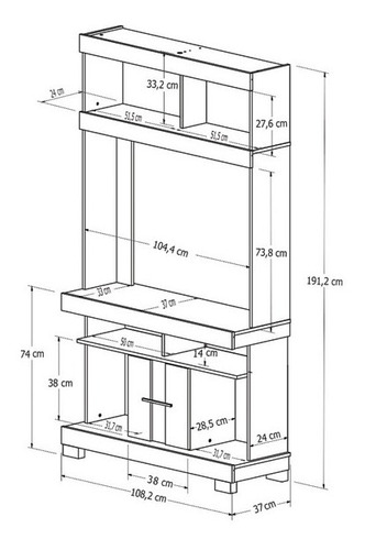 rack mesa tv , led, mueble jad  - dormire
