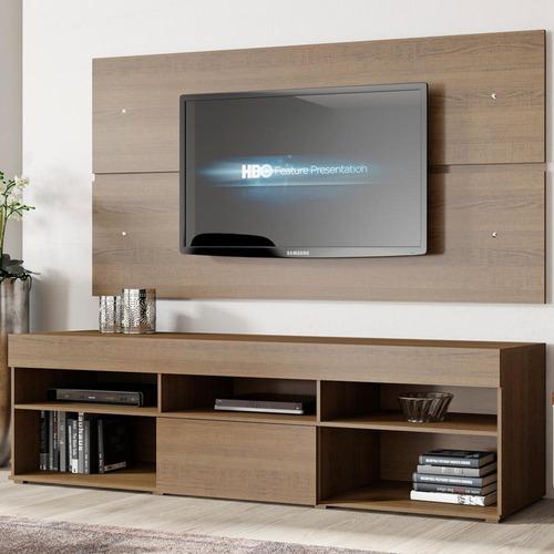 rack miami e painel para tv sala de estar madesa