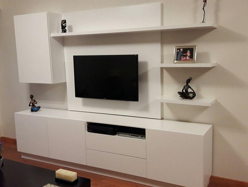 Rack Moderno Tv 2 Metros Madera Laqueada Forbidan Muebles 39100