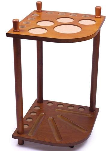 rack mueble organizador de palos 8 tacos de billar felson