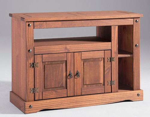 rack mueble tv madera maciza, cerámicas castro
