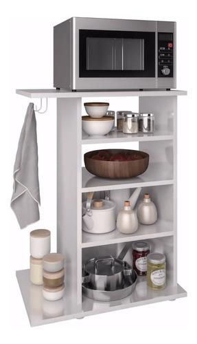 rack multiuso 1 una puerta estantes cocina mueble microondas
