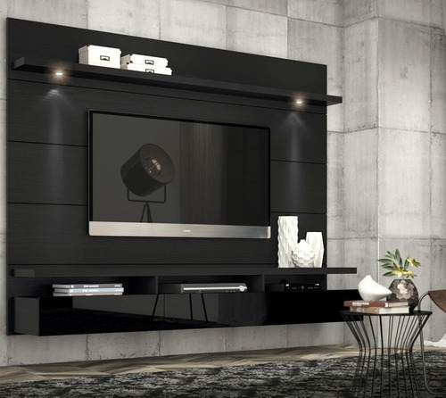 Top 40 Best Home Theater Lighting Ideas: Rack Painel P/tv Lcd Led Horizon 2,17m P/tv 60 #12x