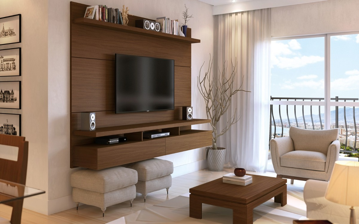 MLB 708914324 Rack Painel Tv 42 Provincia _JM on Small Condo Decorating Ideas