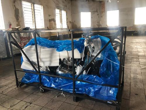 rack paletizado empilhável p/ transporte e estocagem de moto