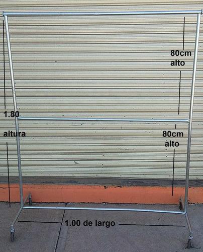 rack para colgar ropa tipo closet 1.00 largo
