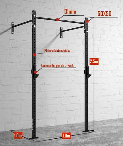 rack para crossfit e funcional com barra fixa pull up gaiola