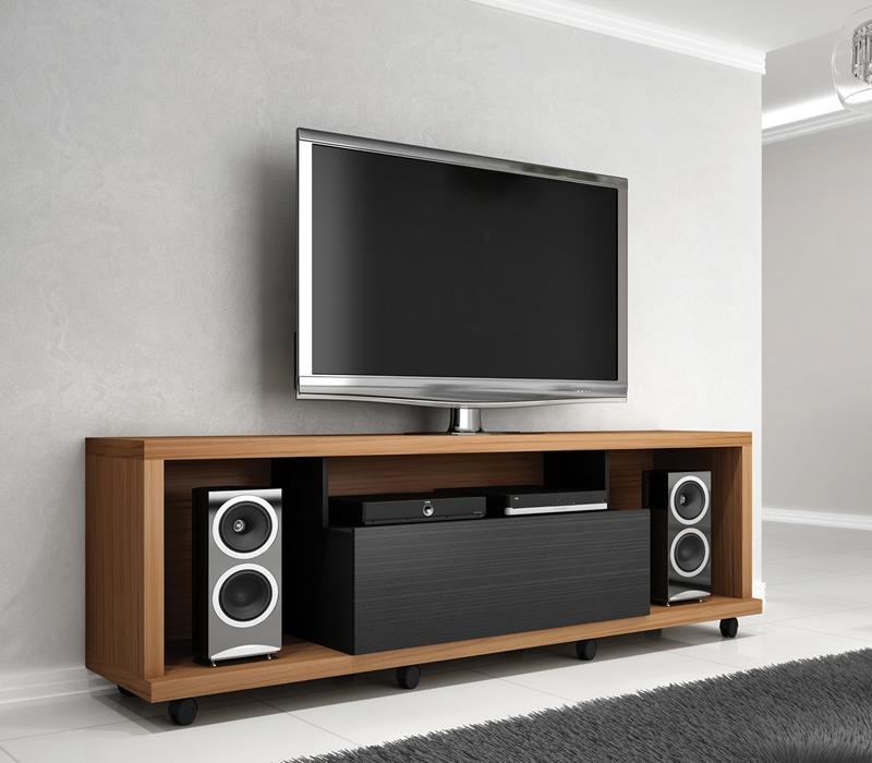 Rack Para Sala De Estar Com Painel ~ Rack Bancada Para Tv Onix 1,80m Sala De Estar Benetil  R$ 469,00 em