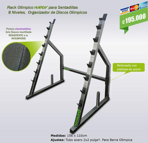 rack para sentadillas 8 niveles
