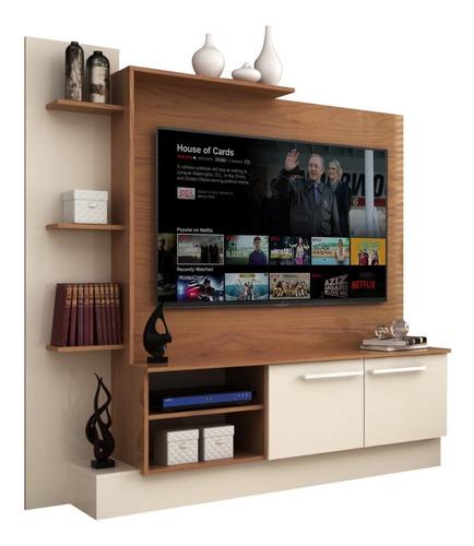 rack para tv con estantes mesa de living mueble modular
