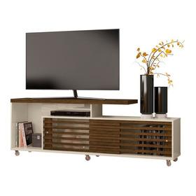 Rack Para Tv Con Puertas Corredizas Y Ruedas H64x182x40cm