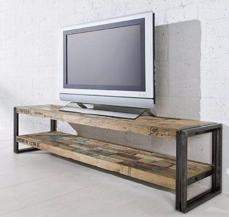 rack para tv mesa para lcd - vintage rustico