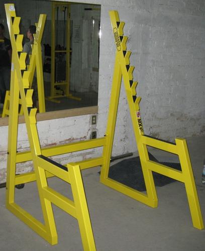 rack piramidal para sentadillas s/b marca : guerra fitness e