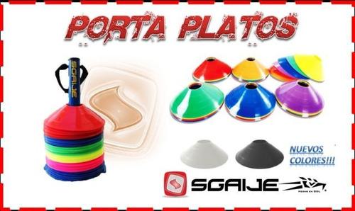 rack porta platos con 100 platillos cono soccer,crossfit