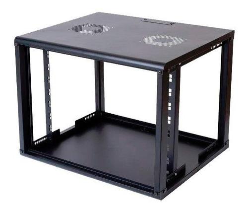 rack servidor fechado de parede preto 12u 19'' 470mm s/ sold