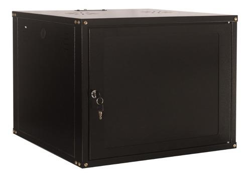 rack servidor fechado de parede preto 8u 19'' 450mm sem sold