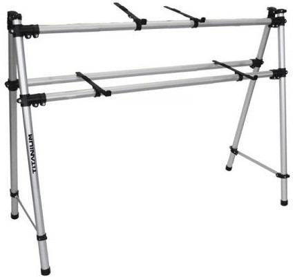 rack titanium para controladora dj até 1 metro + notebook