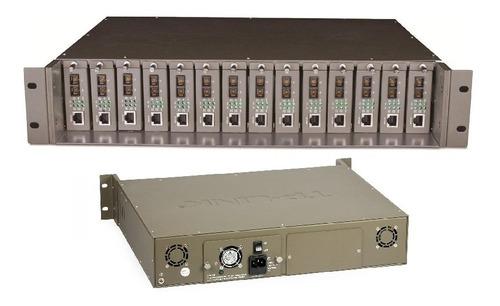 rack tp-link tl-mc1400 media converter fibra 14 bahia