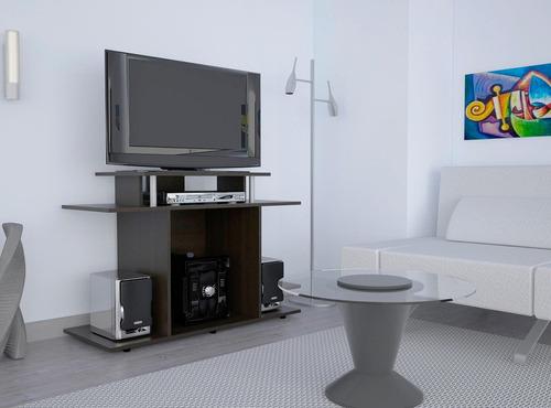 rack tv 68x99x40 cm wengue -tuhome (envío gratis)