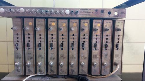 rack tv coletiva via satélite 10 canais televox, na-11