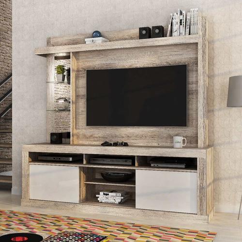 rack tv - home maracá 51''- castanha rústico, mueble
