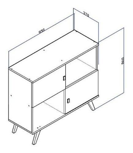 rack tv linea retro mesa living comedor 2 puertas ru rt3011