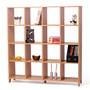 Biblioteca Cubos En Mdf Melamínico Madera 157 X 149 X 35 Cm