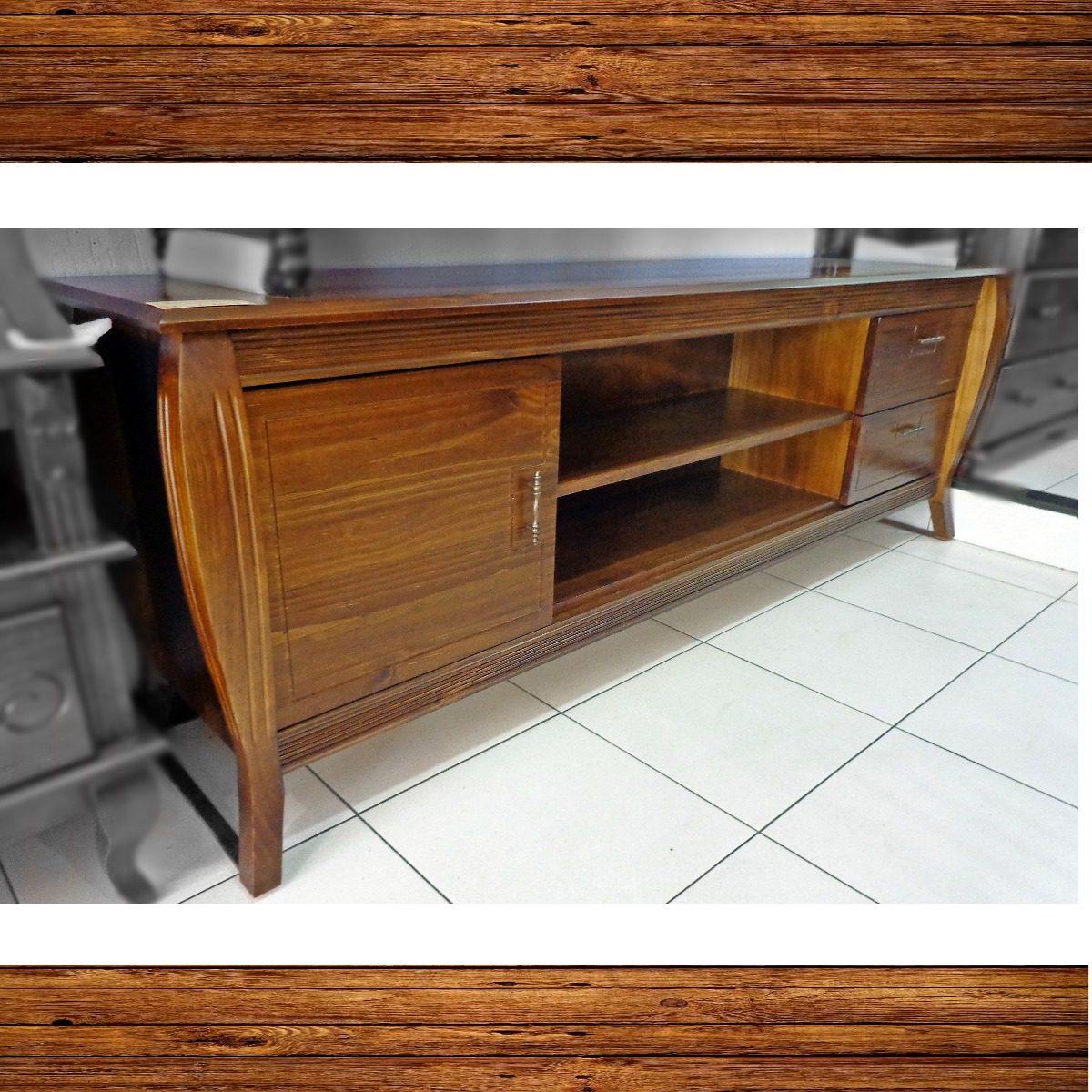 645662b55 rack tv madeira maciça porta gavetas prateleira sala 2.00 mt. Carregando  zoom.