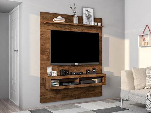 rack tv pared tele 60´ castaño livings divino