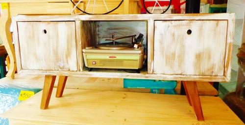 rack tv- retro pintado-¡único!-otras medidas / envios gratis
