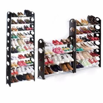 Rack zapatera 10 niveles 30 pares zapatos facil practico for Como hacer una zapatera