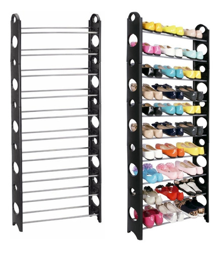 rack zapatera 10 niveles 30 pares zapatos organizador