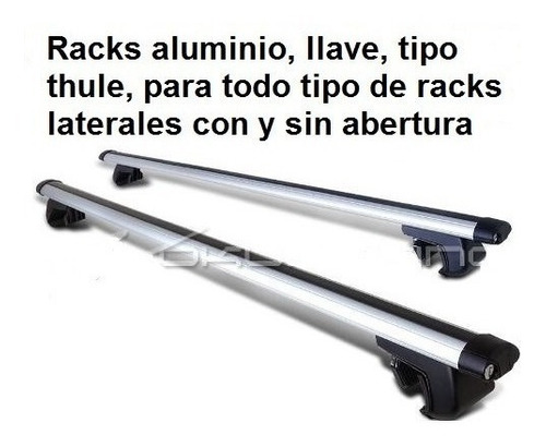 racks aluminio ac racing, llave, doble bloqueo en cada punta