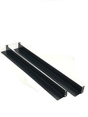"Rising Rack Mount Supporting Rails L-Shape 1 Pair 25.25/"" Long For Cabinets//Racks"
