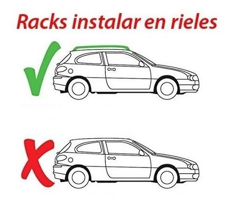 racks tipo thule nuevo con llave instalación gratis