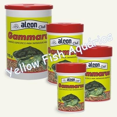 ração alcon gammarus 115gr alimento para tartaruga racao