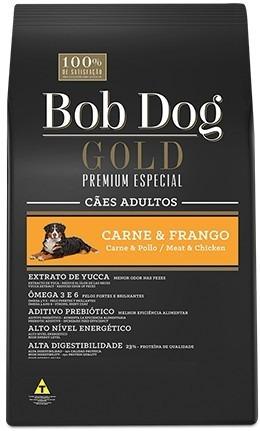 ração bob dog gold premium especial carne&frango 15kg
