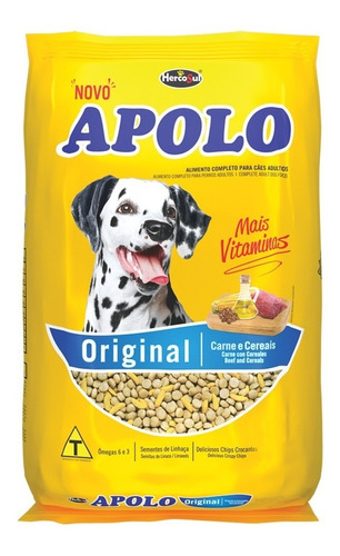 ração cachorro apolo original 10,1 kg