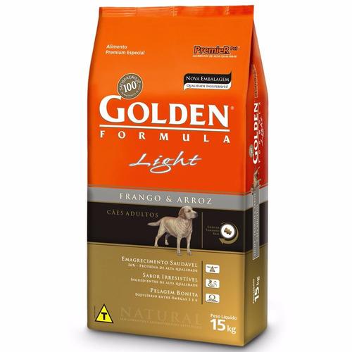 ração golden cães adultos light frango e arroz 15 kg