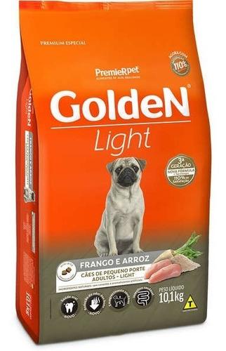 ração golden cães adultos light mini bits frango arroz 10kg