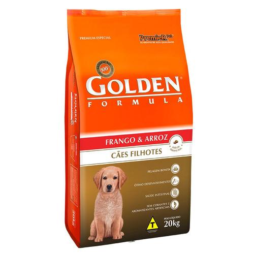 ração golden cães filhotes frango arroz 20 kg frete gratis